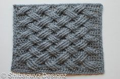 crochet cable block