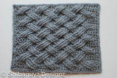 Basketweave free crochet stitch pattern