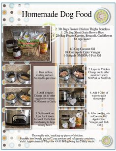 How to make homemade dog food in a slow cooker pinterest my homemade dog food recipe i arranged it all pretty for printing and giving to my friends who regularly ask what i feed kaiko combine in crockpot 2lbs forumfinder Choice Image