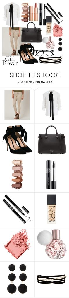 """Power outfit"" by cobbles ❤ liked on Polyvore featuring Flying Monkey, Michael Kors, Gianvito Rossi, Burberry, Charlotte Tilbury, Christian Dior, NARS Cosmetics, Bobbi Brown Cosmetics, Cara Accessories and Kenneth Jay Lane"