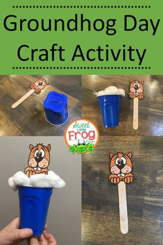 This adorable groundhog day craft is so easy and inexpensive to make! Great quick craft activity for early elementary students!