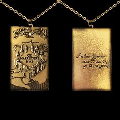 Harry Potter Marauder's Map Necklace