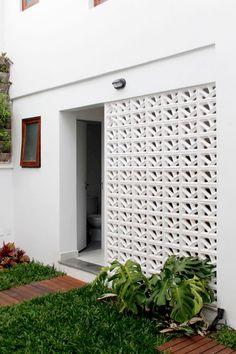 Sousel House: Modern Interior of A House with Concrete Wall Design Exterior, Brick Design, Facade Design, Fence Design, 4 Bedroom House Designs, Home Room Design, Decorative Concrete Blocks, Breeze Block Wall, Jaali Design