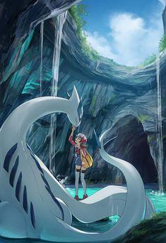 Lyra and Lugia Pokemon Fan Art, Fotos Do Pokemon, Pokemon Comics, All Pokemon, Pokemon Anime Characters, Pokemon Live, Pokemon Stuff, Pikachu, Pokemon Lugia