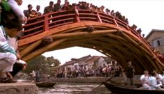 "Rainbow Bridge: ""During the Song Dynasty, the population of China grew to about 100 million people … The bridge that NOVA built was imitating one in Kaifeng, the capital of northern Song China, that was built over the Bian Canal … All of this was connected - transportation, commercialization, technological innovations, and urbanization."" —NOVA, China's Age of Invention. http://www.pbs.org/wgbh/nova/ancient/song-dynasty.html Video: https://www.youtube.com/watch?v=1DC0qg_C3Sc"