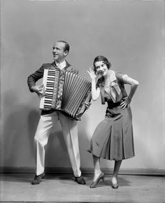 The Astaires (Adele & Fred) in The Band Wagon (1931). Costumes by Kiviette. Photo by Vandamm Studio