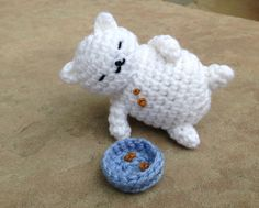 Amigurumi Tubbs from Neko Atsume, designed and crocheted by me :)
