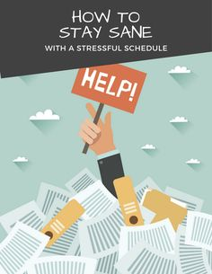 How to stay sane with a stressful college student schedule.