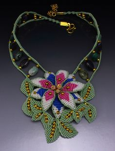 Micro macrame necklaces by Nadja Shields. Visit Imbali Crafts for marame tutorials and more