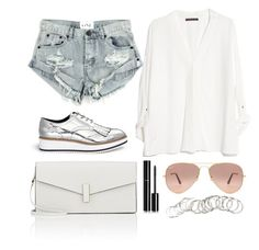 """""""147"""" by gabigomesll ❤ liked on Polyvore featuring Pedder Red, One Teaspoon, MANGO, Ray-Ban, Valextra, Chanel and H&M"""