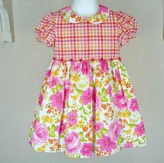 Baby Lulu Southern Rose Bodice Dress Sz 4T 4 Girls Spring Summer #BabyLulu #Casual