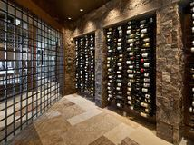 Prefabricated Wine Storage Systems    The Vintage View racking system is an economical way to store larger collections of wine. This cellar also uses beautiful recessed spotlighting and natural stone. It's a simple design that makes a major impact. If you're looking to design a wine cellar with a more transitional appeal, consider the elements that make this space so appealing.