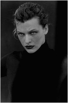 Milla Jovovich, photo by Peter Lindbergh, 2000