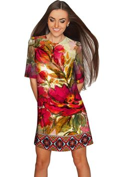 7318cae73a Free Spirit Grace Shift Dress - Women  dress  fashion  boho Red Boho Dress. Pineapple  Clothing