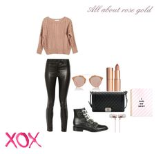 """All about rose gold"" by manon-bdm on Polyvore featuring mode, Givenchy, Ryan Roche, J Brand, Chanel, Christian Dior, Cynthia Rowley, Charlotte Tilbury, GALA et Dior"