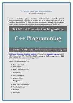C language class in bopal satellite, ahmedabad