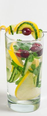 Daily Detox Dream Water ~ I add green tea and 100% cranberry juice instead of cranberries. I drink this everyday.
