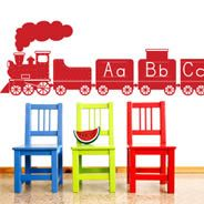 A to Z Alphabet Train wall decals