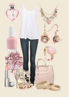 Love the shoes and betsy johnson necklace...so so cute!