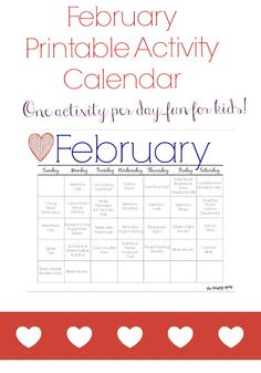 January Activities  Crafts For Kids Free Activity Calendar
