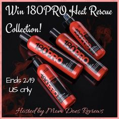This great giveaway is sponsored by Zotos and hosted by Mom Does Reviews About the 180PRO Heat Rescue Collection: If you can't take the heat…reach for the new Heat Rescue Collection from 180PRO, Zotos Professional's damage-reversing line. Ideal for...