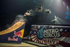 Aaron Wheelz Fotheringham in Nitro Circus Ramp Jump Action