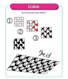 As promised, here is the second pattern for this week. Click the image to enlarge Lisbon is so easy to draw and can be used in many ways. Because it starts off with a simple grid, you can stretch t...