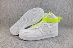 lowest price 4c84e b2ed5 Magic Stick x Nike Air Force 1 High VIP White Volt Black 573967 101 Mens  Casual