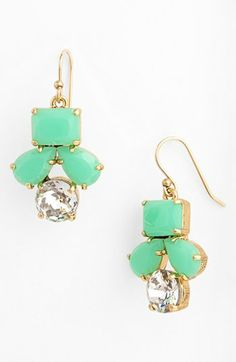 kate spade new york 'secret garden' mixed stone earrings available at #Nordstrom