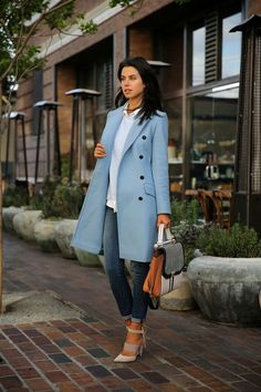 I love this coat. I'm in love | coat | fall | maybe winter | winter blue | outerwear | gorgeous