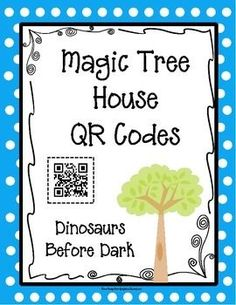 QR codes are an effective technique to enrich reading in a fun way. They are easy for teachers to implement and for students to use. Dinosaurs Before Dark has QR codes that will lead students to more information about the book topic. There's also a QR code for more information about the author and an online book quiz.