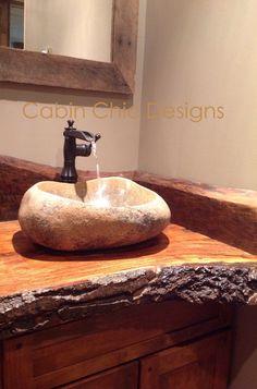 Cabin chic designs bathroom