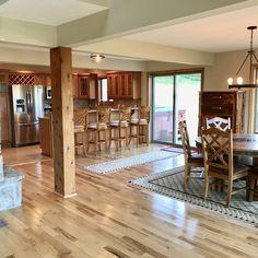Home Renovation, Home Remodeling, Home Decor Kitchen, Kitchen Design, Interior Columns, Pole Barn Homes, Island Design, Beautiful Kitchens, Kitchen Remodel