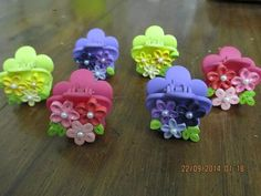 Hair Clips with quilled decos