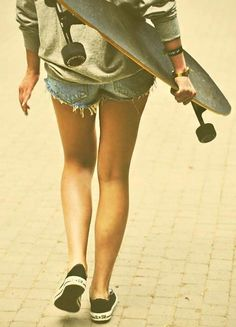 My roommate had a long board in college. I would ride it to class every chance I got. It was SoCal, so my usual attire was flip flops with skirts or shorts. I miss it.