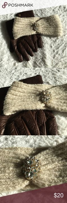 🆕NWOT Jeweled Winter Headband Never been worn! New without tags winter headband from The Limited. It's a beige color with very pretty jeweled diamond accent in front. 95% acrylic, 5% polyester.  🛍 Bundle & Save: 20% off 2+ items!  🙅🏻 No trades / selling off Posh.  ✔️ Reasonable offers always welcome. The Limited Accessories Hats