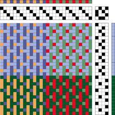 Not 2 Square Weavers: Favorite Weaving Drafts 違う所はあるかな