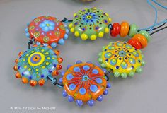 Michou P. Anderson Lampwork Beads - Sunshine in your hands