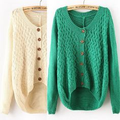 Fabric: Cotton  Color: Green,Apricot  Size: standard size ( medium size )  Size (cm): Bust 130 , Length 55-63 , Sleeve 69 ,