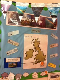 Weather forecasting roleplay chart - twinkl - could take turns doing it every morning!
