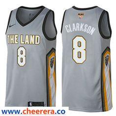 Nike Cavaliers  8 Jordan Clarkson Gray The Finals Patch NBA Swingman City Edition  Jersey a2d9f47ef