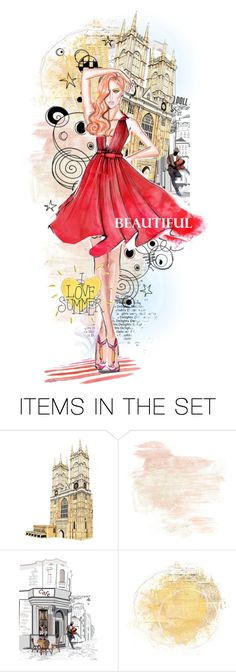 """Illustrated Doll"" by rosie305 ❤ liked on Polyvore featuring art and artdoll"
