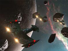 Star Trek Klingon Negh'Var Class Warship, free Star Trek computer desktop wallpaper