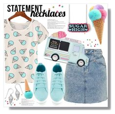 """""""Collared! Statement Necklaces"""" by queenvirgo ❤ liked on Polyvore featuring Topshop, Etude House, BillyTheTree and statementnecklaces"""