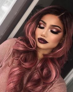 Holiday makeup looks; promo makeup looks; wedding makeup looks; makeup looks for brown eyes; glam makeup looks. Hair Colors For Blue Eyes, Vivid Hair Color, Gold Hair Colors, Hair Color Pink, Cool Hair Color, Punk Hair Color, Dark Fall Hair Colors, Makeup Looks For Green Eyes, Fall Makeup Looks