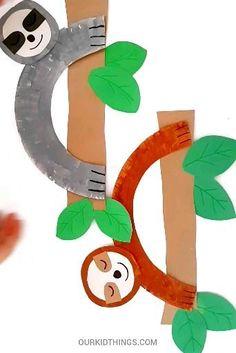 Safari Animal Crafts, Forest Animal Crafts, Animal Crafts For Kids, Jungle Crafts Kids, Preschool Jungle, Dinosaur Crafts, Ocean Crafts, Animal Projects, Rainforest Crafts