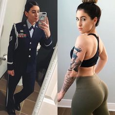 USAF 🇺🇸 Hey everyone 🙋🏻♀️ I'm Paola, I'm originally from Puerto Rico but currently stationed in New Jersey. Idf Women, Military Women, Mädchen In Uniform, Female Soldier, Female Marines, Military Girl, Sexy, Girls Uniforms, Facon