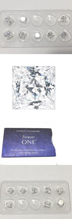 Synthetic Moissanite 110800: Forever One Moissanite Princess Cut 1 Ct 5.5Mm Charles Colvard And Colorles D E F -> BUY IT NOW ONLY: $229.08 on eBay!