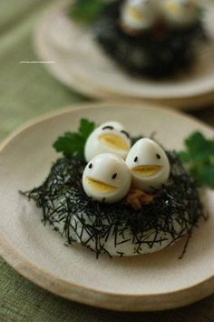 Fun food for kids Carved hard boiled eggs Smiles Healthy simple food +++ Caritas… Cute Food, Good Food, Yummy Food, Baby Food Recipes, Cooking Recipes, Healthy Recipes, Cooking Eggs, Food Carving, Food Decoration