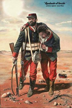 Ayudando al herido, Juan Crass Carter